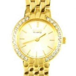 Reloj Cuarzo Pulsera Acero Inoxidable Gold Dama_0