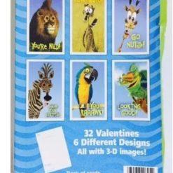 Recuerdo Tarjetas Efecto 3d Intercambio San Valentin Animal_1