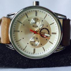 Reloj Dama Acero Inoxidable Analógico Piel Cuarzo Casual_1