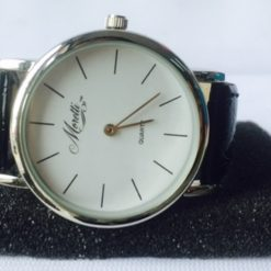 Reloj Analogico De Pulsera Cuarzo Monetti Cuero Unisex_1