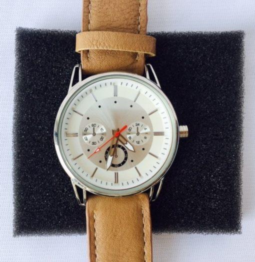 Reloj Dama Acero Inoxidable Analógico Piel Cuarzo Casual_0