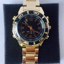 Reloj Cronografo Acero Inoxidable Analógico Sumergible_0
