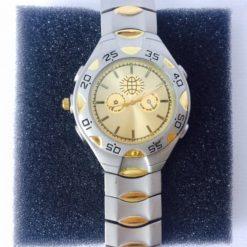 Reloj De Pulsera Cuarzo Vintage Plateado Gold Hombre Reman_1