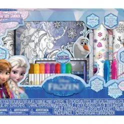 Frozen Estuche Dibujo Colorear Posters Stickers Disney Juego_1