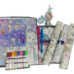 Frozen Estuche Dibujo Colorear Posters Stickers Disney Juego_0