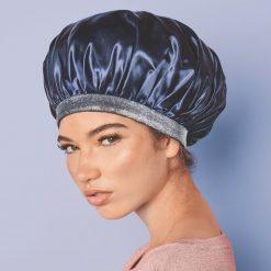 Gorra Adama Lujosa Capo Luxy Bonnet Azul Marino Brillos _1