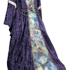 Vestido Princesa Medieval Violeta 7 A 9 Años_1