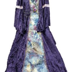 Vestido Princesa Medieval Violeta 7 A 9 Años_0