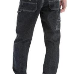 Pantalon Negro Wangler Carpenter Clásico Niño Regular Dura_1