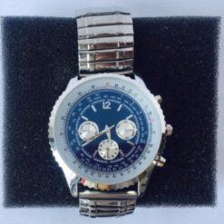 Reloj Acero Inoxidable Pulsera Caballero Elástico Cronografo_0