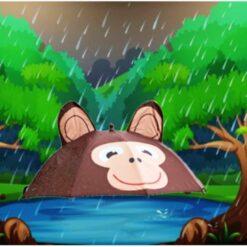 Paraguas Pop Up Umbrella Monkey Animación Changuito_4