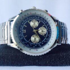 Reloj Acero Inoxidable Pulsera Caballero Elástico Cronografo_1