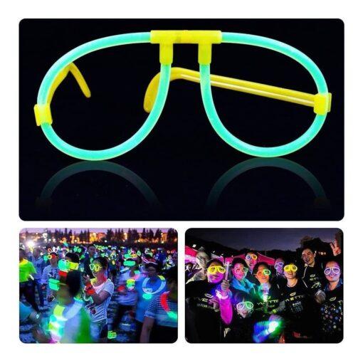 Lentes De Neon Tuny Glow Para Fiestas Kit De 5 Lentes Pack_2