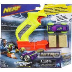 Nerf Lanzador Carros Nitro Throttleshot Blitz Juego Carreras_1