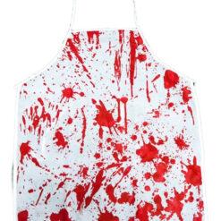 Delantal Ensangrentado Carnicero Maldito Disfraz Halloween_0