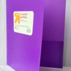 Carpeta Folder Carta Plastico Portafolio 2 Bolsillos 50pz _1