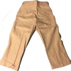 Pantalon Infantil Casual De Lino Caqui Kani Gold Para Niño_1