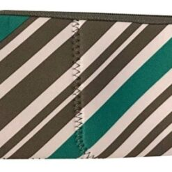 Bolsa Accesorios Neseseras Color Rayas Blanco Gris Aqua _0