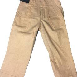 Pantalon Infantil Casual De Lino Caqui Kani Gold Para Niño_0