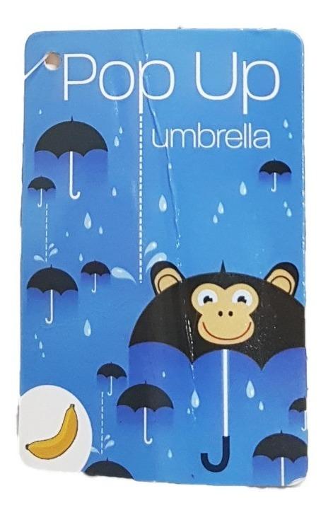 Paraguas Pop Up Umbrella Monkey Animación Changuito_2