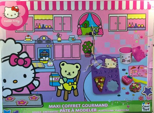 Cocina Fabrica Pasteles Hello Kitty Set Gourmet Plastilina _4