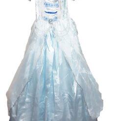 Disfraz Infantil De Princesa Azul Adorno Zafiro Y Perlas_0