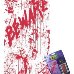 Cubierta Para Decoración De Puerta Bloody Door Halloween_0