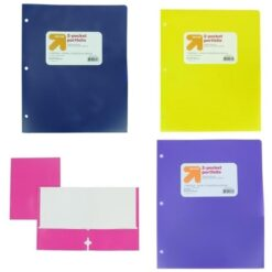 Carpeta Folder Carta Plastico Portafolio 2 Bolsillos 50pz _0