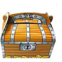Cofre De Pirata Decoración Fiestas Caja De Dulces 6 Pack. _1