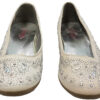 Zapatilla Ballerina Color Beige Con Estoperoles T-USA 3 MED_0