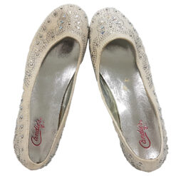 Zapatilla Ballerina Color Beige Con Estoperoles T-USA 3 MED_2