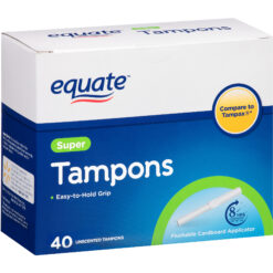 Tampones Equate Super Easy Hold Grip 40 Unidades Tampax New_0